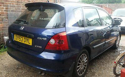 53 reg Honda Civic diesel CTDi S 5 door hatchback spares / repair. Runs. MOT.
