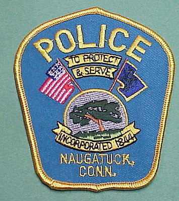 Naugatuck  Connecticut  Ct  ( Blue Background )  Police Patch   Free Shipping!!!