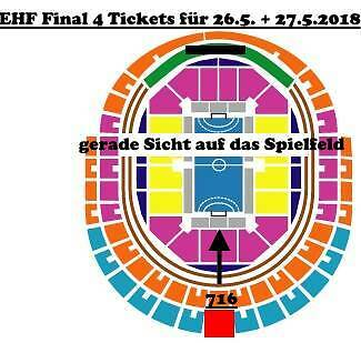 2-4  Tickets VELUX EHF Handball Final 4 Four 26/27.05.18 Champions League Köln