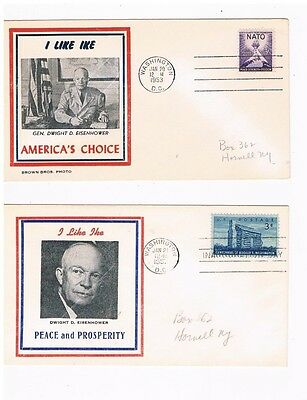 1953 and 1957 Eisenhower Inauguration Covers