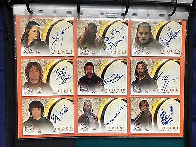 Topps Lord Of The Rings LOTR Autograph Trading Cards 4 Complete Sets