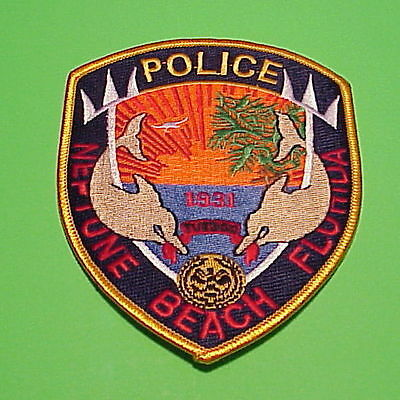 Neptune Beach  Florida  1931  Fl  Police Patch   Free Shipping!!!  Very Nice!!