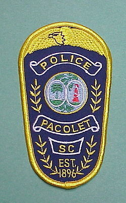 Pacolet  South Carolina  Sc  Est.1896  Police Patch   Free Shipping!!!