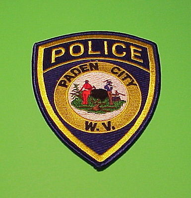 Paden City  West Virginia  Wv  ( Gold )   Police Patch   Free Shipping!!!