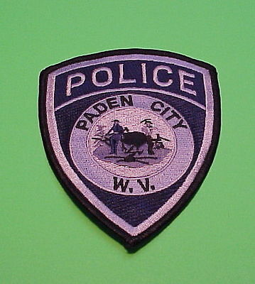 Paden City  West Virginia  Wv   ( Silver )  Police Patch   Free Shipping!!!