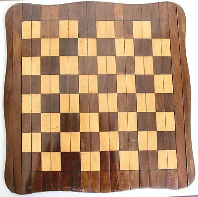 Antique Roll-Up Chess Board | Chess & Draughts Board | Marquetry Wooden Roll-Up