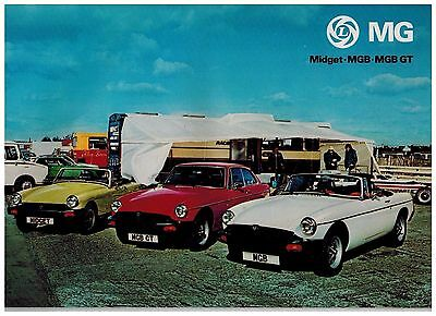 MG GAMME catalogue 16 PAGES 1977 format A4 ANGLETERRE
