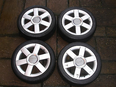 Genuine Audi A2 Alloy Wheels x 4 Complete with Centre Caps and Tyres L@@K