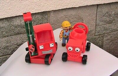 Bob the Builder Friction Powered Gripper with Bob and Dizzy the Cement Mixer VGC