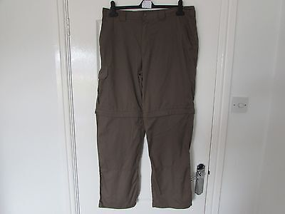 Used Mens Walking Trousers By Outdoor Discovery Size Waist 34 In, Inside Leg 31