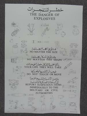 National Guard - The Dangers Of Explosives - Informational Poster #misc826
