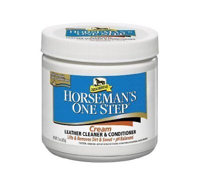 Absorbine Horseman's One Step Leather Tack Cleaner & Conditioner 425g Cream