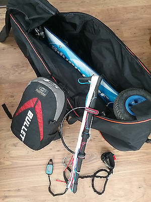 Complete kitesurfing package, ATB Scrub board, Flexifoil 4.5M, bags & anemometer