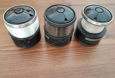 3 Spare Spools To Fit Shimano 8010, 6010, 4500 And 4000 Baitrunner Reels.