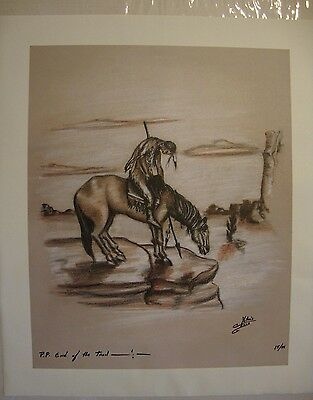 """End of the Trail . by Native American Artist . Yatzie Dee """"Silver Eagle""""  #ab856"""