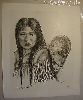 """Madonna  . by Native American Artist . Yatzie Dee """"Silver Eagle"""" . #ab852"""