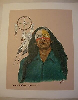 """White Buffalo . by Native American Artist . Yatzie Dee """"Silver Eagle""""  #ab849"""