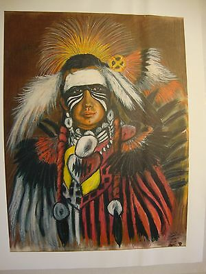 """Dancer . by Native American Artist . Yatzie Dee """"Silver Eagle""""  #ab863"""