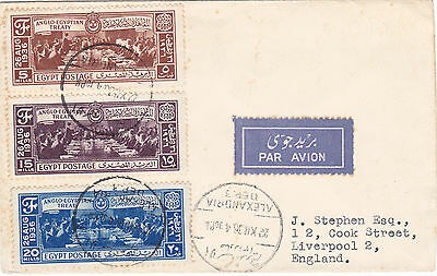 Egypt 1936 Signing of Anglo-Egyptian Treaty FDC sent to England by Airmail