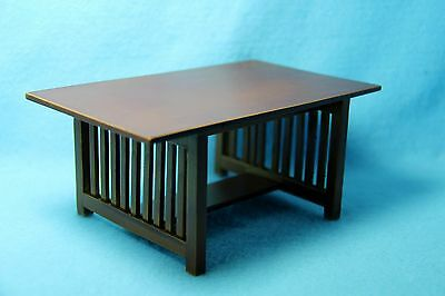 Dollhouse Miniature Dining Room Mission Table in Walnut ~ T6240