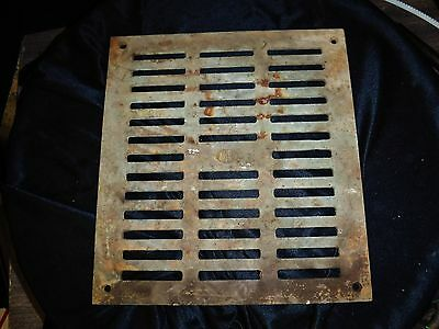 Antique Brass Wall Heat Grate Register 11x12x3/16 floor drain Multiple available