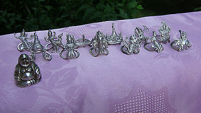 Siam Twelve Sterling Silver Place Card Name Holders & Buddha