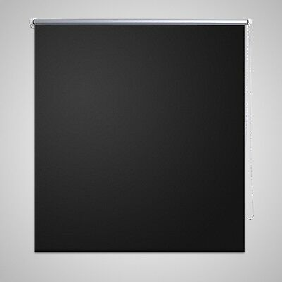 #Quality Roller Blind Blackout Thermal Easy Installation 40 x 100 cm Black
