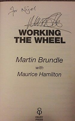 Martin Brundle - Working the wheel - Signed by Martin - 100% Genuine