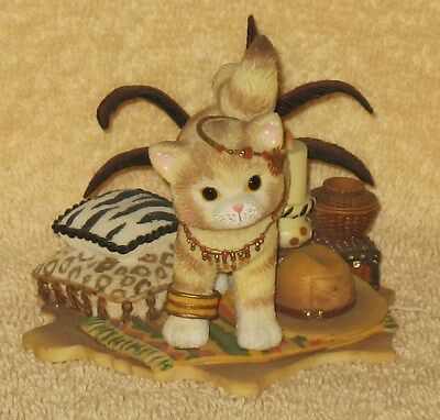 Calico Kitten  Cat Retired Enesco IT'S HARD TO TAME A WILD HEART MIB
