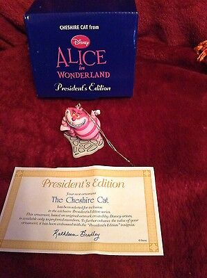 New Alice In Wonderland's Cheshire Cat Early Moment (grolier) Christmas Ornament