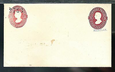 217 MEXICO PS Unused Envelope Cover MEPSI E14 5c+5c NAME MAZATLAN Numbers 2783
