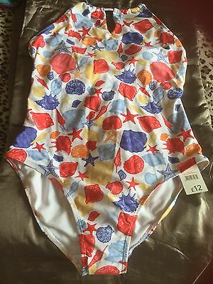 Halternet Swimsuit Swimming Costume One Piece, Multi, George, Size 16, New