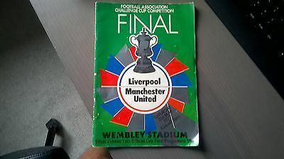 FA Cup Final programme 1977