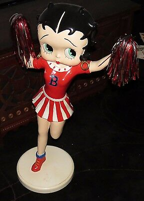 "RARE Betty Boop Cheerleader Pom Pom FIGURINE STATUE - 36"" TALL - U.S. Seller ! !"