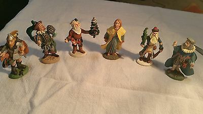 Duncan Royale History of Santa Pewter Figures Lot of 6
