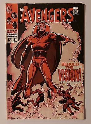 Avengers Comic #57 (1968) 1st Appearance of THE VISION - Silver Age Marvel Key