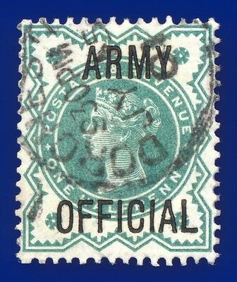 1900 SGO42 ½d Blue Green Army Official Fine Used Dorchester JY 15 01 Cat£15 ahwp