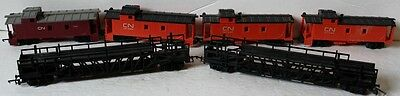 OO Vintage Tri-ang Canadian National Various Cars, Lot Sale of 6
