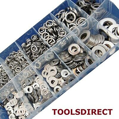 790 Piece Flat & Spring Stainless Steel Assorted Washers Set Rust Resistant