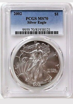 2002 Silver Eagle PCGS MS70**CLEAN COIN!!!***