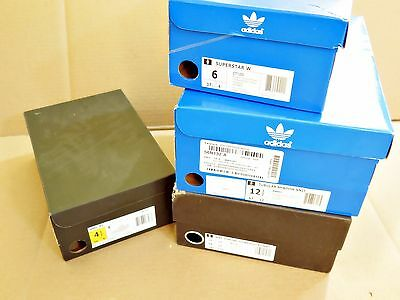 Lot of 4, ADIDAS EMPTY/REPLACEMENT BOXES ONLY, Mens, Womens, Kids