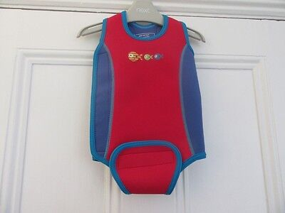 6-12m: Mothercare baby wetsuit: Red/blue + fish: Great 4 beach + pool
