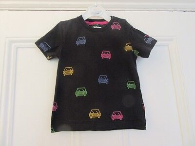 18-24 m: Cute top/ t-shirt: Black + pink/yellow/green cars: Scandi, P.O.P