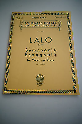 Lalo Symphonie Espagnole sheet music for piano and violin