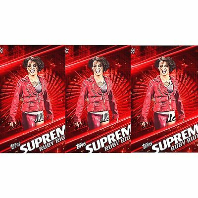 3x SUPREME 2017 RUBY RIOT Topps WWE Slam Digital Card