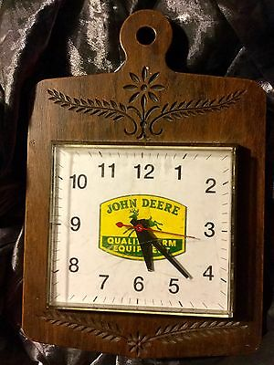 Old Vintage John Deere Electric Wall Clock - Estate Sale Find