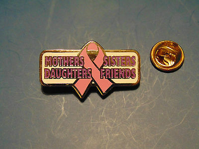 Mothers Sisters Daughters Friends Breast Cancer Pink Ribbon Pin Lapel
