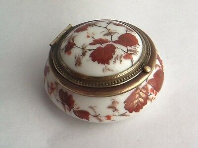 Beautiful Antique Porcelain Trinket Box With Flip Cap - French?