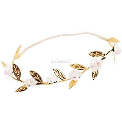 White Baby Kids Girls Headband Flower Hair Band Elastic Hair Accessories