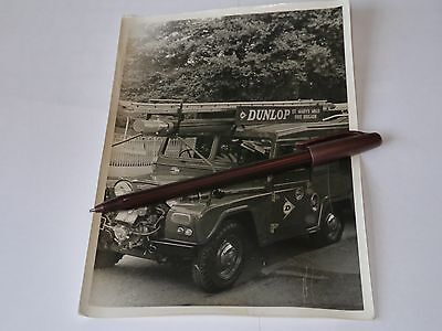 vintage photograph Leicester St Mary's Mills Land rover  size 8 by 5.5 inches